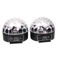 sesli etkinleştirilen lazer parti ışıkları toptan satış-Şık 20 W DMX Ses Aktif RGB LED Kristal Sihirli Top Lazer Etkisi Disko DJ Parti Bar KTV Noel Gösterisi Için 6 Işık Mix Renkler