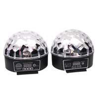 Wholesale laser lights for disco - Stylish 20W DMX Voice Activated RGB LED Crystal Magic Ball Laser Effect Light For Disco DJ Party Bar KTV Christmas Show 6 Mix Colors