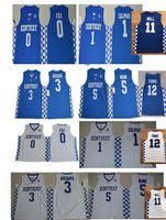 Wholesale Fox 11 - #12 Karl Anthony TOWNS 11 John Wall Kentucky Wildcats College Basketball Jerseys 5 Malik Monk 3 Edrice Adebayo 1 John Calipari 0 DeAaron Fox