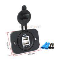 usb 12v fahrzeug großhandel-12V Dual USB Ladegerät Steckdose für Fahrzeuge