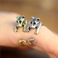 Wholesale Tiger Ring Band - New Punk Style Adjustable Baby Tiger Ring, 3D Animal Rings Antique Silver Bronze Punk Style For Special Gift