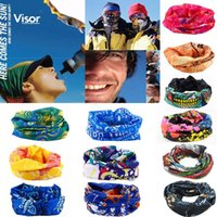 Wholesale Headband Hiking Mask - DHL free cycling masks polyester breathable bike motorcycle kerchief headband for hiking camping over 100 designs in stock