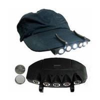 parlak şapka ışıkları toptan satış-Toptan Satış - Toptan-5 LED Far Flash Cap Hat Torch Başkanı Ampul Balıkçılık Kamp Ultra Parlak 9OCC