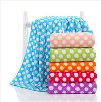 Wholesale Thick Cotton Sheets - PASAYIONE Oversize Pool Beach Towel In Polka Dots Pattern Soft Thick High Absorbent Coral Fleece Bath Sheet Outdoor Travel Beach