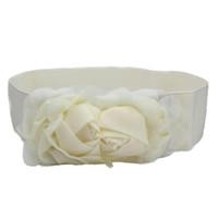 Wholesale Elastic Rose Belt - Wholesale- SIF NEW Fashion Double Rose Flower Buckle Elastic Waist Belt Lady Waistband JAN 06