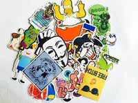 Wholesale Diy Phone Stickers - Styling Mix Skateboard Laptop Luggage Snowboard Car Fridge Phone DIY Vinyl Decal Motorcycle Stickers Covers Motorcycle Stickers