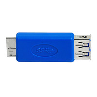 Wholesale Micro Pc Desktop Computer - USB 3.0 A Female to USB3.0 Micro B Male Port Converter adapter USB3.0 Mobile hard disk for Samsung note3 OTG laptop PC computer