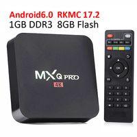 Wholesale Wholesale Iptv - 2017Best Selling MXQ Pro 4K KD17.2 Fully loaded add-ons iptv box Rockchip rk3229 Quad-Core Andorid 6.0 1GB+8GB android ott tv boxes