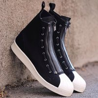 Wholesale Pro Sports Football - Y3 PRO ZIP Mens Womens High Top Sneakers Y-3 Unisex Sneakers Black Sports Running Shoes Size 36-44