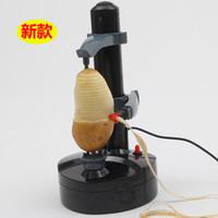 adaptador de cocina al por mayor-Peladora de manzana eléctrica multifunción Máquina para pelar patatas Zesters Peladoras automáticas zesters con adaptador de corriente mejores herramientas de cocina
