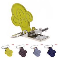 Wholesale Mitten Holders - New 5Pcs Baby Suspender Pacifier Holder Mitten Clips Cartoon Monkey Face Inserts New Feeding Gift
