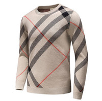 Wholesale Wollen Coats - Mens plaid pullover cardigan Christmas wollen sweater winter mens cashmere warm plaid winter coat knitted sweater men D25