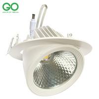 cardan downlight achat en gros de-La puce 130-140lm / w de plafond de Bridgelux d'ÉPI de LED Downlight 30W bas oriente la lumière réglable orientable de tronc de gimbal de lumière de tronc de gimbal de LED