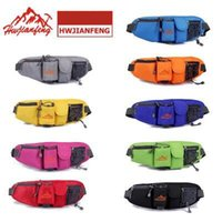 Wholesale Travel Gadget Bags - 8 colors Waterproof Multi function nylon men bag waist pack string zipper outdoor sports travel riding phone gadgets waist bag