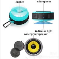Mp3 Spieler Sporting Kaufen -Bluetooth Lautsprecher Wireless C6 IPX7 Outdoor Sport Dusche Portable Wasserdichte Saugnapf Freisprecheinrichtung TF MIC Voice Box für iphone Samsung iPad
