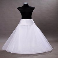 Wholesale Tulle Wedding Dress Slips - In Stock Tulle A-Line Wedding Petticoats Bridal Slip Underskirt Crinoline White For Wedding Dresses Bridal Petticoats