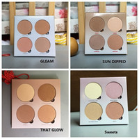 Wholesale Faces Shipping - Highest quality! HOT Bronzers &Highlight Kit Makeup Face Powder Blusher Palette GLEAM THAT GLOW Sweets SUN DIPPED DHL Free shipping+GIFT