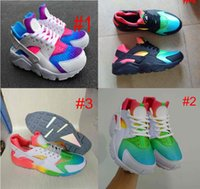Wholesale Mesh Bags For Women - Air Huarache Sneakers For Men&Women Colorful White Rainbow High Quality Running Shoes Come With Receipt Bag Sock Box