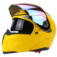 Wholesale Cyclo Cross - Wholesale- Full Face Motorcycle Helmet Racing Full Face Helmet Motorcycle Helmet Run Cyclo-Cross With Colorful Lens Yellow