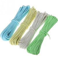 Wholesale Climbing Accessory Cord - Wholesale- 15m 50ft Outdoor Rock Climbing Ropes Camping Accessory Luminous Parachute Cord Wire Travel Kit Safty Escape Life Saving Rope