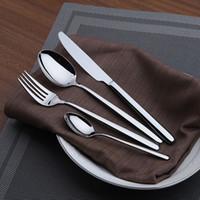 Wholesale Stainless Steel Flatware Cutlery - 4 Pieces set Cutlery Set Stainless Steel Flatware Western Dinnerware Set Classic Knife Fork Spoon Tea Spoon Food Dining Tableware