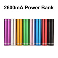 Wholesale Cell Phone Emergency Power Bank - 2600mA Portable Mobile Phone Power Bank Emergency External Battery Charger panel USB for Cell Phone Samsung HUAWEI Motorola Sony Lenovo IPad