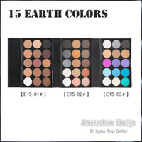 Wholesale Color Pigments For Eyeshadow - New fashion 15 Earth Color Matte Pigment Eyeshadow Palette Cosmetic Makeup Eye Shadow for women 3 styles