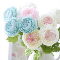 Wholesale Home Decorative Gifts - Wholesale-Artificial Peony Flowers Festival Party Decorative Flower Wedding Christmas Gift Display Flower for Home decoration Silk Peony