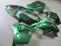 carrinhos completos zx9r venda por atacado-Kit de carenagem de plástico ABS completo para Kawasaki Ninja ZX9R 2000 2001 carenagens verdes conjunto ZX9R 00 01 OY47