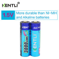 stable lot - KENTLI Stable voltage mWh AA batteries V rechargeable battery lithium polymer battery for camera ect