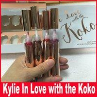 Wholesale Love Doll Sizes - 4PCS SET Kylie IN LOVE WITH THE KOKO Liquid Lipstick Koko Kollection Doll Sugar Plum Bunny Baby Girl