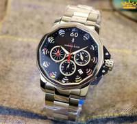Wholesale White Dial Watch Titanium - CCOORUM AAdmiral's Cup Leap Second Chronograph White Dial Titanium Men's Watch JAPAN VK quartz movement