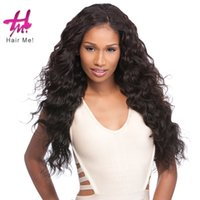 Wholesale Skin Hair Wefts - 3 boundles brazilian deep wave hair wefts dyeable bleachable afro kinky human hair weft skin weft hair extension hairme freeshipping