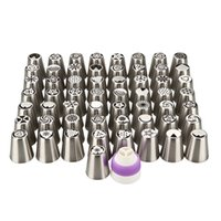 Wholesale Cake Decorating Stainless Steel - 57 Kinds Different Design Stainless Steel Russian Flower Making Icing Piping Nozzles Cake Decoration Tips Baking Tools kit US Dropship.