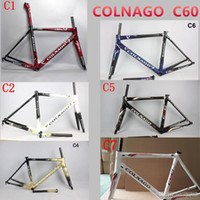 Wholesale Carbon Matte Frame - 2017 HOT SALE colnago C60 road bike carbon frame full carbon fiber road bike frame 46 48 50 52 54 56cm T1000 carbon frameset