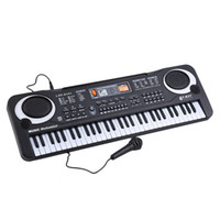 Wholesale Piano Grand - 61 Keys Music Electronic Digital Keyboard Electric Organ Children Great Gifts With Microphone Musical Instrument Top Quality