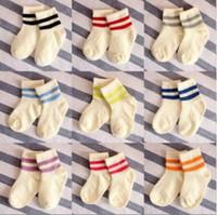 Wholesale Cotton Bar Girl - Socks Parallel Bars Baby Cotton Children Fashion Cute Wild Solid Hosiery Boy and Girl Socks Christmas Socks