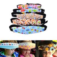 porte-ceinture en nylon achat en gros de-Siège de voiture pour bébé sommeil ceinture réglable sieste aide sécurité support de bande de support de tête pour voyage protecteur enfant
