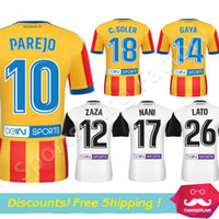 Wholesale Valencia Football - Valencia Soccer Jersey 2017-18 Valencia CF football shirts Parejo Zaza Gaya Nani football shirts 2018 Camiseta de futbol Los Ches Jerseys