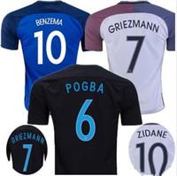 8e42f4ff1 Soccer Men Short Hot sale Top quality 2016 2017 Euro France Home Soccer  Jersey blue GRIEZMANN