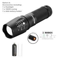 Wholesale Led Torch Tactical Usa - USA EU Hot Sel E26 Hard anodized CREE XM-L T6 3800 Lumens High Power Torch LED Flashlight