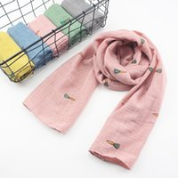 Wholesale Lovely Baby Shawls - Children Neckerchief Autumn And Winter Scarves Cotton Child Scarf Lovely Carrot Pattern Fashion Warm Baby Warp Shawl