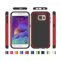 mini híbrido galaxia s4 al por mayor-Rugged Impact Híbrido caso cubierta para el iPhone 5 5S 6 Plus Samsung GALAXY S3 S4 Mini S5 borde S6 Nota 3 4 Silicona + Hard PC Heavy Duty Mix