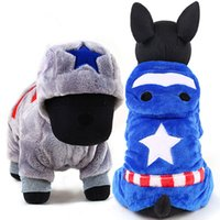 Wholesale Dogs Jumpsuit Fleece - Free shipping fleece fabric hit cartoon item jumpsuit cosplay for pet dog hoodies pet clothes for Chihuahua Poodle Pug