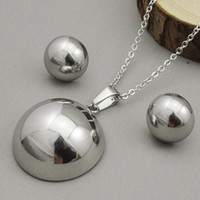 Wholesale Gold Plated Tungsten Jewellery - Fashion Party Earrings Necklaces Set Half Balls Jewellery Sets New 2016 for Women