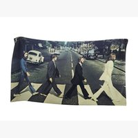 Wholesale Compressed Soft Hand Face - Factory Price Vintage Fshion Bath Towel The Beatles Band Cross Street Classic Soft Microfiber Beach Towel 60x110CM In Stock Dropshipping
