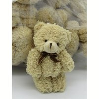 ingrosso peluche farcito ted-40PCS / LOT Kawaii Small Joint Teddy Bears Peluche farcito con Bow Tie12CM Giocattolo Teddy-Bear Bear Ted Bears Giocattoli peluche Wedding 002