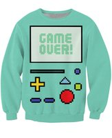 Wholesale Sexy Games Character - Wholesale-Game Over BMO Crewneck Sweatshirt cartoon character Winter Autumn Style Sweats Women Men Sexy Tops Hoodies Casual Jumper
