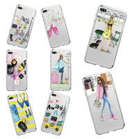 Wholesale Iphone 5s Case Fashion Clear - Fashion Modern Lady Girl Soft TPU Phone Case For Apple iphone X 5s 6 6s 8 8Plus Back Cases Cover for Samsung S8 Plus S8 S7 S7Edge