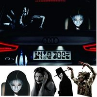 Wholesale high reflective stickers - Car Horror Car Stalls Stickers Personalized Perspective Devil After The Film Night Anti-high Beam Reflective Car Body Stickers